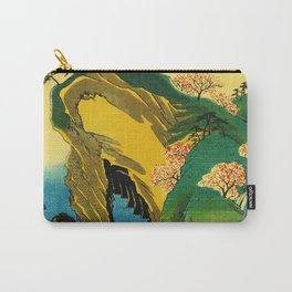 Cherry Blossom Trees on Japan Cliff Carry-All Pouch