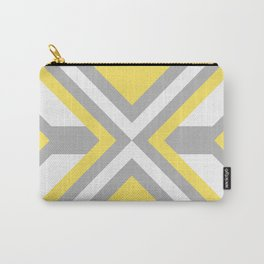 Urban Retro Geometric modern square shapes mid century pattern soft pastel yellow 01 Carry-All Pouch