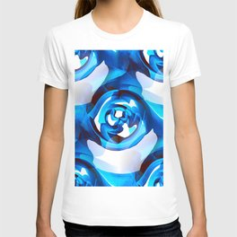 Minimalism Contemporary Abstract in Royal Blue T-shirt