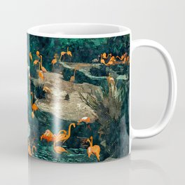 Flamingo Creek #flamingo #tropical #illustration Coffee Mug