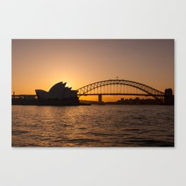 Sunset over Sydney Canvas Print
