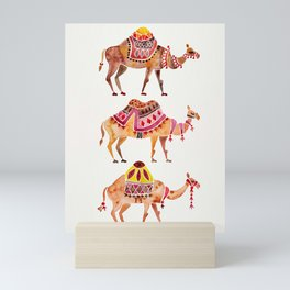 Camel Train Mini Art Print