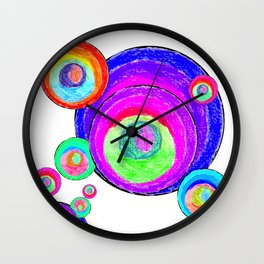 Colorful Secret Geometry | painting by Elisavet #society6 Wall Clock