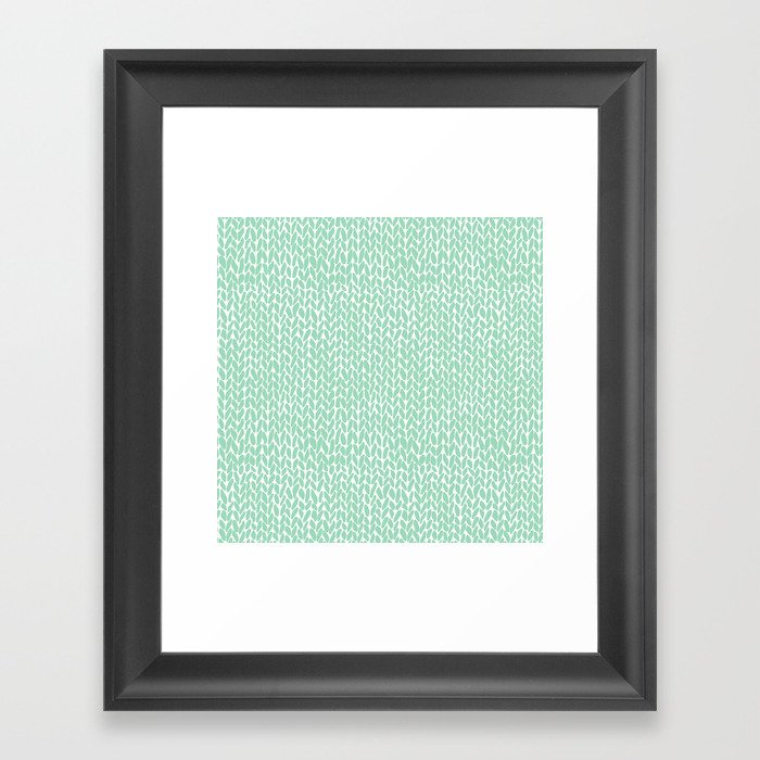 Hand Knit Mint Gerahmter Kunstdruck