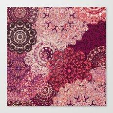 Terra Rose Mandalas Canvas Print