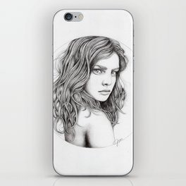 JennyMannoArt Graphite drawing iPhone Skin