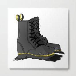 Kickass Boots Metal Print