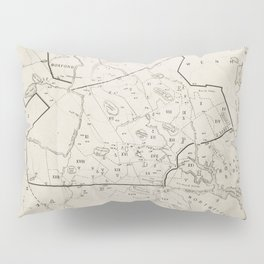 Vintage 1692 Map of Salem MA Village (1866) Pillow Sham