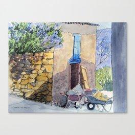 Wheelbarrows Canvas Print