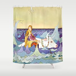 """Europa and the Bull"" by Virginia Sterrett Shower Curtain"
