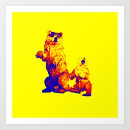 Ours Republique yellow Art Print