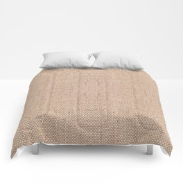 Beige flax cloth texture abstract Comforters