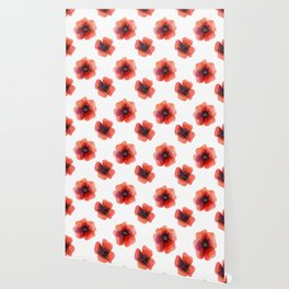 Meadow Red Poppies Wallpaper