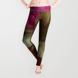 Grainy Green Flowers Leggings