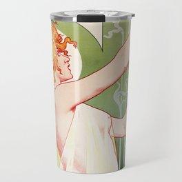 Art Nouveau Absinthe Robette Ad Travel Mug