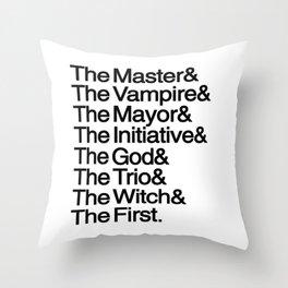 The Big Bads Throw Pillow