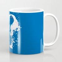 mega man Mugs featuring Mega Man Splattery Design by The Daily Robot