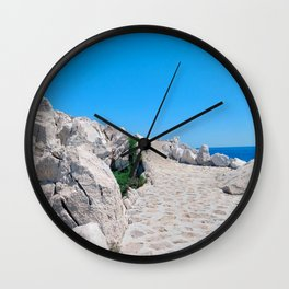 White Gold Wall Clock