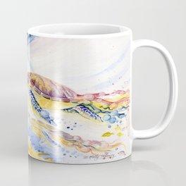 Going Up Sea Turtle Coffee Mug