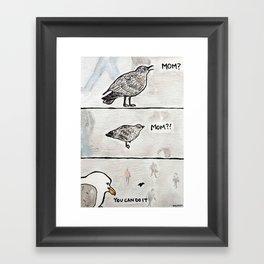 Bird no. 14: You can do it Framed Art Print