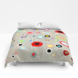 Abstract Happy Circles Comforters