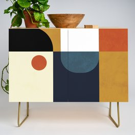 mid century abstract shapes fall winter 4 Credenza
