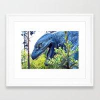 dinosaur Framed Art Prints featuring Dinosaur  by Bakal Evgeny