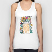 bright Tank Tops featuring ALWAYS LOOK ON THE BRIGHT SIDE... by Matthew Taylor Wilson