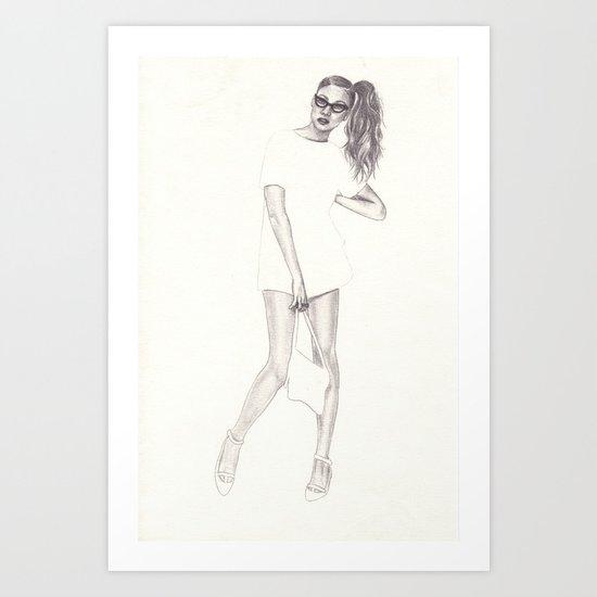 No.2 Fashion Illustration Series Art Print
