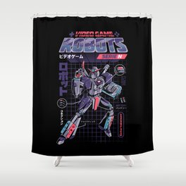 Video Game Robot - Model N Shower Curtain