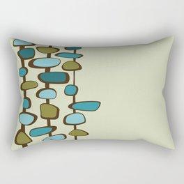 Mid Century Modern Baubles (teal) Rectangular Pillow