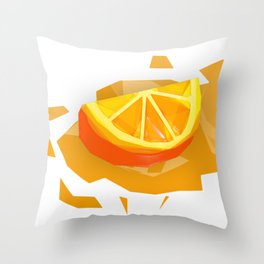 Polygon Slice Throw Pillow