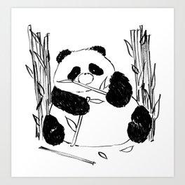 Fat Panda Art Print