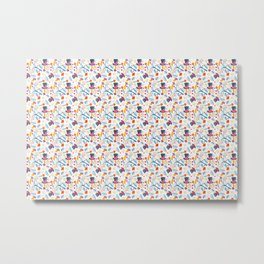 Alice in Wonderland - pattern Metal Print