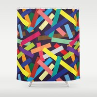 confetti Shower Curtains featuring Confetti by Joe Van Wetering