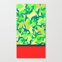 camo Canvas Prints featuring Camo by Ryan Ingram