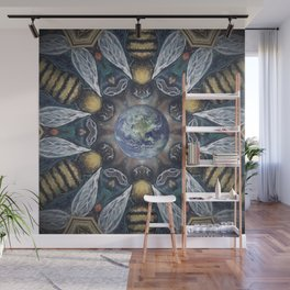 The Keepers of the Garden // Bee Beehive Insect Earth Nature Organic Sustainable Animal Environment Wall Mural