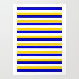 Bosnia Herzegovina Uruguay flag stripes Art Print