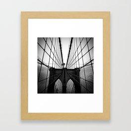 Broolyn Bridge Framed Art Print