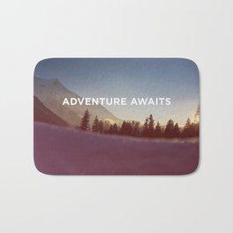 ADVENTURE AWAITS - MOUNTAINS Bath Mat