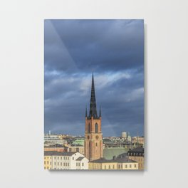 Old Town in Stockholm, Sweden Metal Print