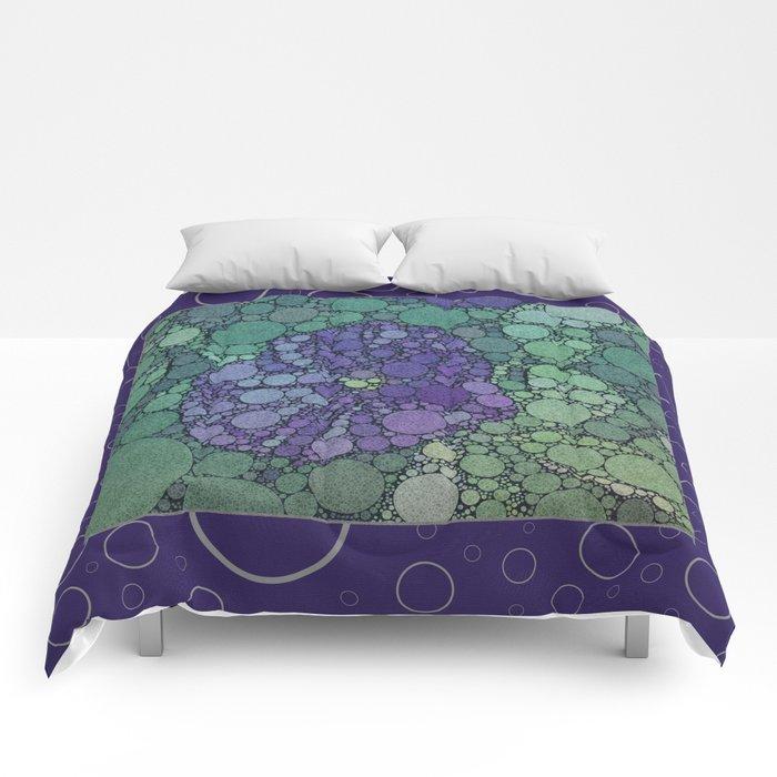Percolated Purple Potato Flower Reboot  Comforters