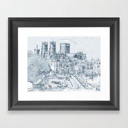 York, in pen and ink Framed Art Print