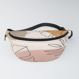 Abstract Nature Leaf Minimalist Print Fanny Pack