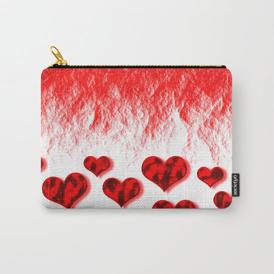 Hearts Abstract Pattern Carry-All Pouch