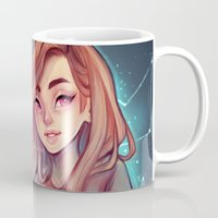 constellations Mugs featuring Constellations by Cyarin
