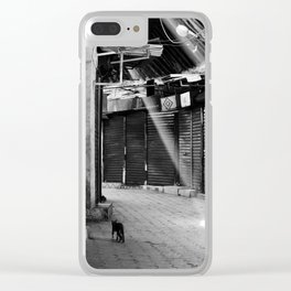 When No One Is Around Clear iPhone Case