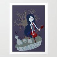 marceline Art Prints featuring Marceline by Tae V