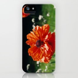 Single Poppy iPhone Case
