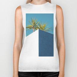 Cactus blue white Biker Tank